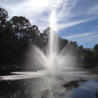 Lighted Lake Fountain EFL450 for 4 - 8 acre ponds
